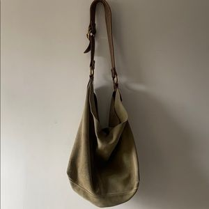 Lucky Brand Green Leather Hobo Bag